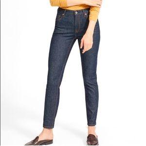 Everlane high rise ankle crop jeans dark wash